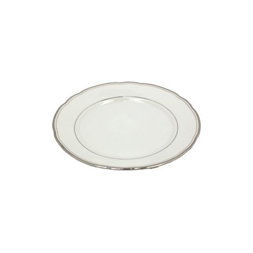 Sideplate klassiek zilver randje, Ø 17,5 cm