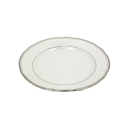 Dessertbord klassiek zilver randje, Ø 19,5 cm