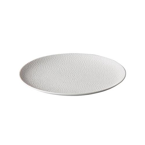 Dessertbord reliëf, wit Ø 21 cm