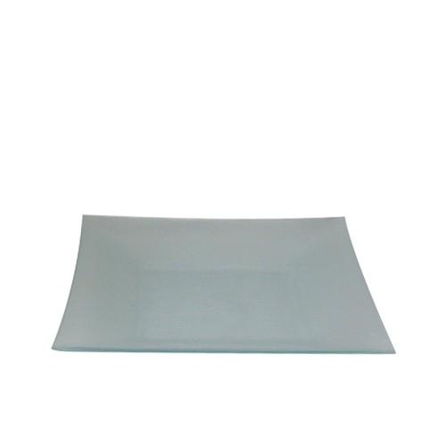 Glazen bord druppel, 26x26 cm