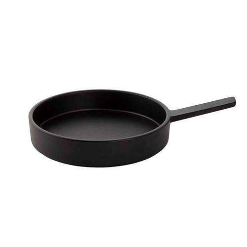 Serveerpan melamine zwart, Ø 20,5 cm