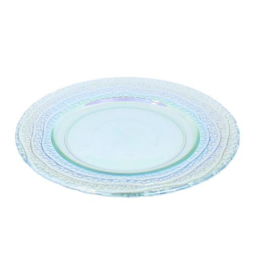 Bord Rainbow glas, Ø 28 cm