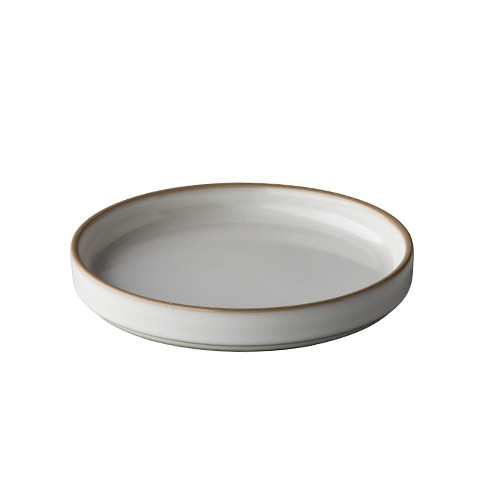 Bord Japan, white/grey, Ø 15 cm