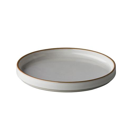 Bord Japan, white/grey, Ø 23 cm