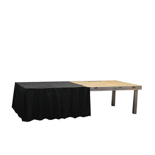 Podiumrok zwart, hoogte 20 cm, lengte 2 meter
