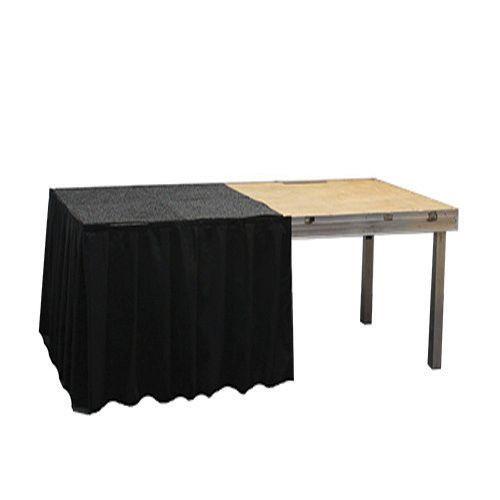 Podiumrok zwart, hoogte 60 cm, lengte 2 meter
