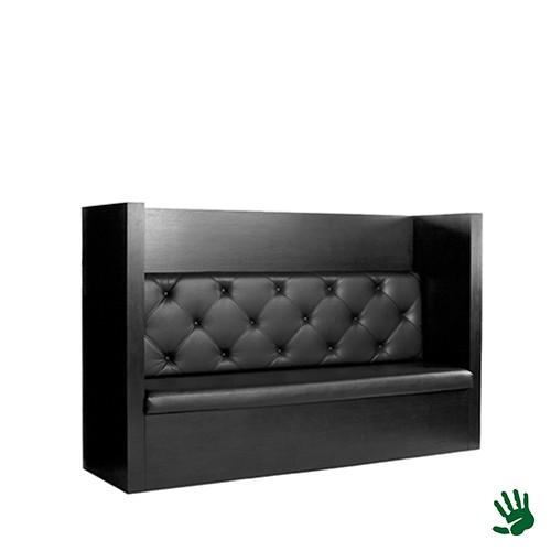 Black Velvet gecapitonneerde lounge bank