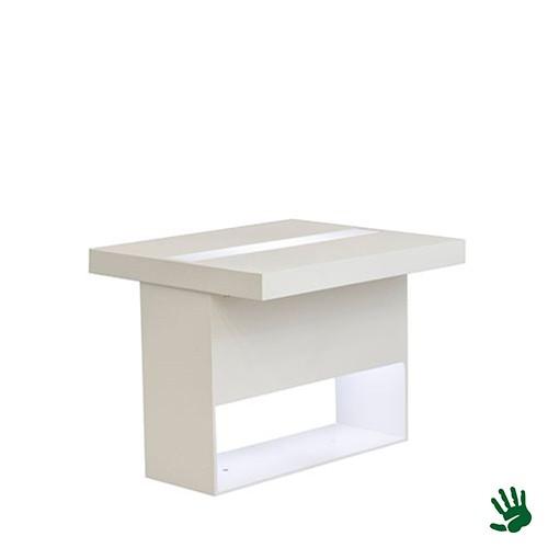 Highlight zittafel wit, met LED verlichting