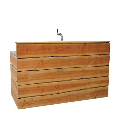 Rustiek bar hout, incl. 1 tap