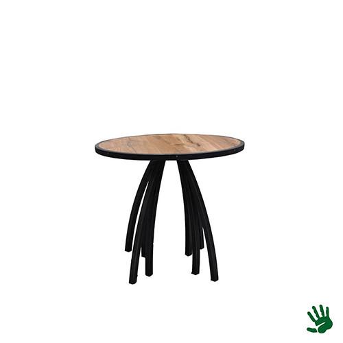 Hot Metal zittafel, rond, 8 potig