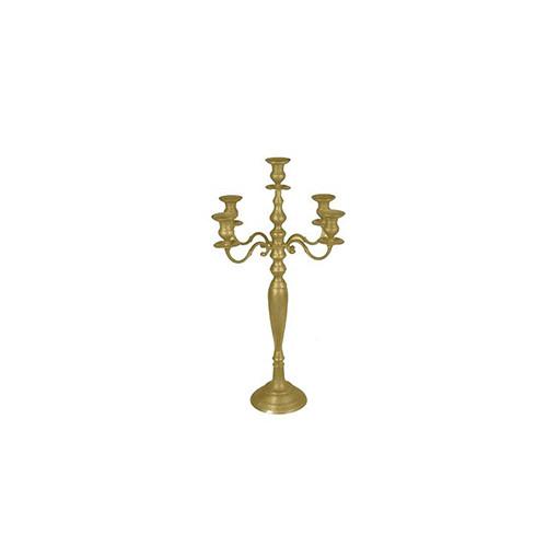 Kandelaar 5-armig, goud rekwisiet, hoogte 37 cm