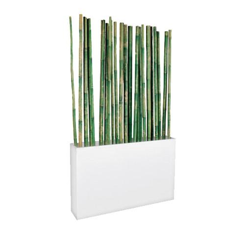 Afscheidingselement wit, met groene bamboe stokken