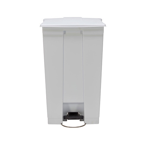 Afvalcontainer wit, met pedaal, 87 liter