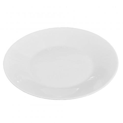 Plat bord wit Italia Blanca, Ø 27 cm.