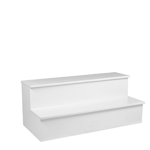 Podiumtrap wit, 40 cm