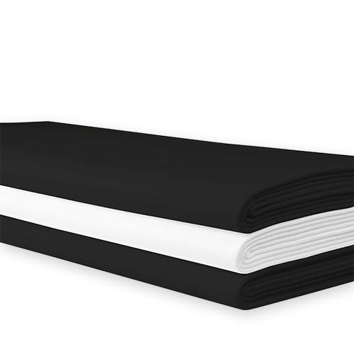 Tafellaken zwart, 240x240 cm.