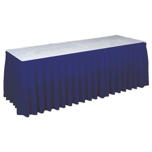 Tafelrok blauw (incl. clips), lengte 575 cm.