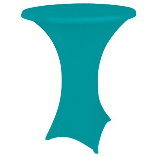 Statafelhoes strak, turquoise
