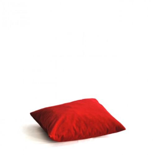 Kussen, rood velours