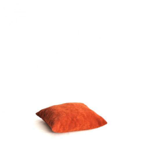 Kussen, terra-oranje stof