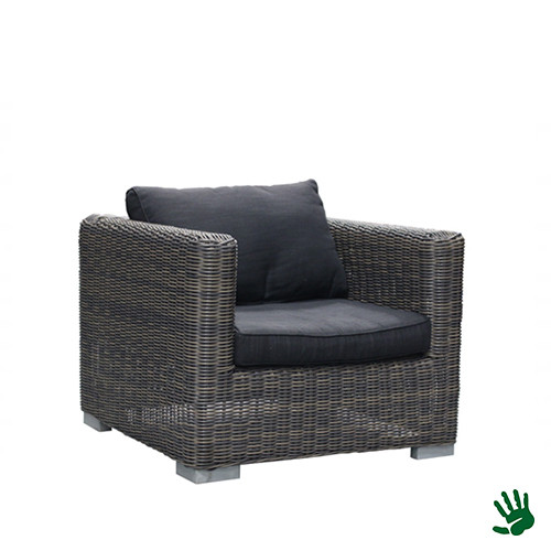 Asian Lounge fauteuil, antraciet