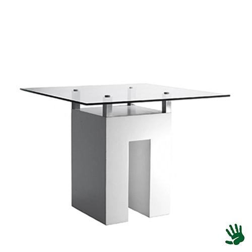 Unow zittafel met heldere glasplaat