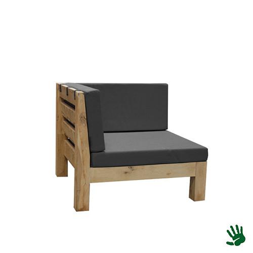 Oak Outdoor loungebank hoekdeel, grijs