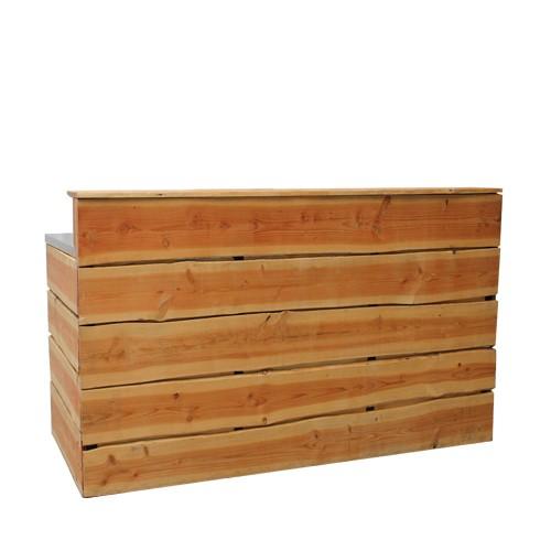 Rustiek bar hout, excl. tap