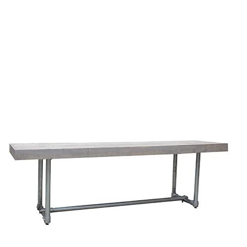 Sidetable Steigerhout lang, lxbxh 240x66x95 cm.