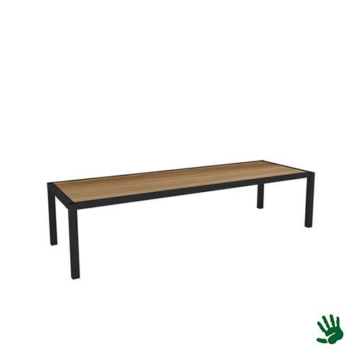 Hot Metal salontafel lang, hout