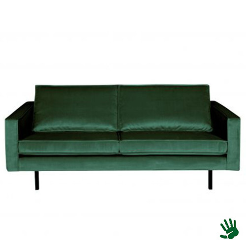 Home - 2,5-zits bank, forest green, velvet