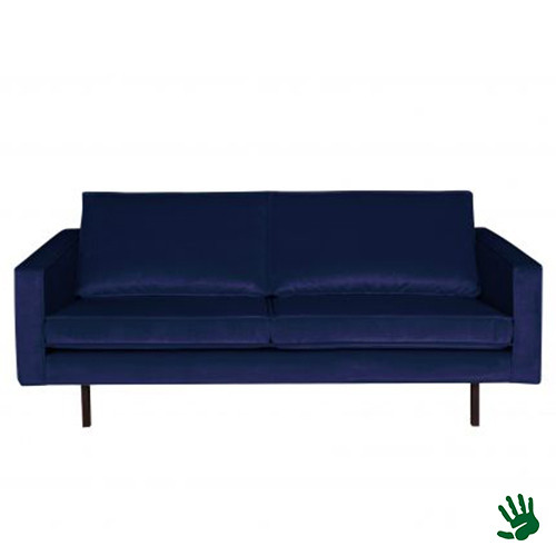 Home - 2,5-zits bank, night blue, velvet