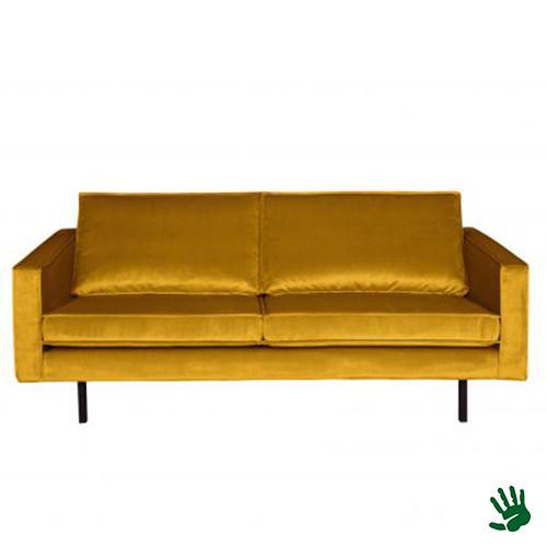Home - 2,5-zits bank, earthy yellow, velvet