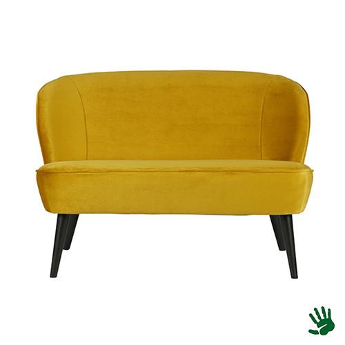 Home - Bankje, yellow velvet
