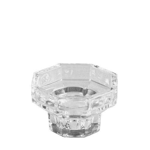 Kandelaar laag glas