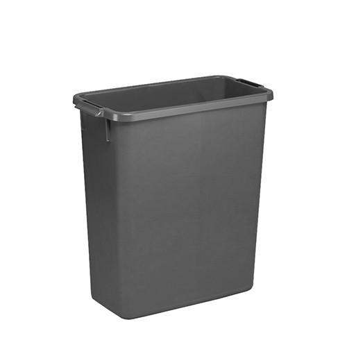 Smalle grijze afvalbak
