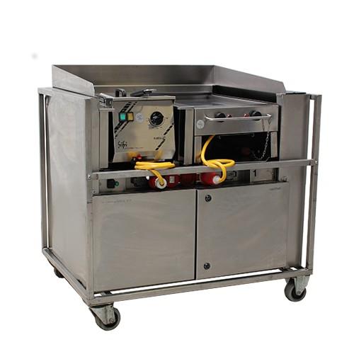 Front cooking unit, met afzuiging