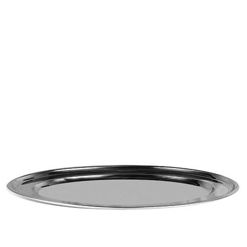 Ovale schaal RVS, 63 cm.