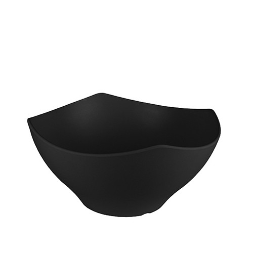 Melamine kroon zwart, Ø 28 cm.