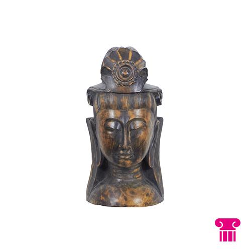 Boeddha hoofd, hout