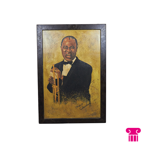Jazz-muzikanten schilderij