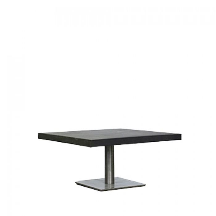 Salontafel Pieter, met zwart Industrial MDF blad, lxb 80x80