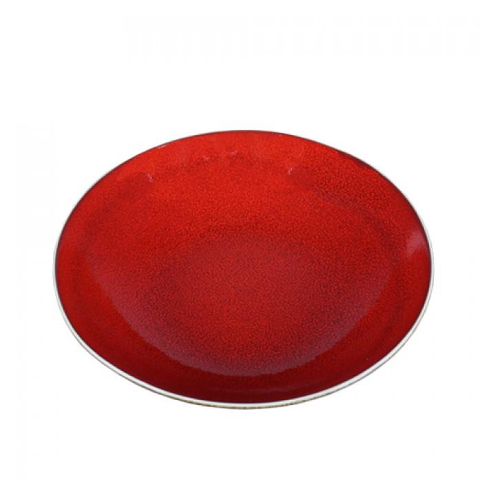 Bord coupe Lava rood, Ø 21 cm.
