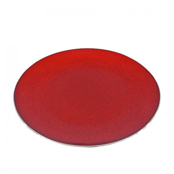 Bord Lava rood, Ø 21.5 cm.