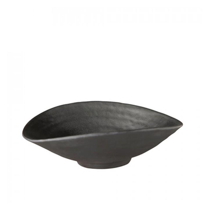 Schaal melamine Zen, zwart, 17,5x15,5 cm.