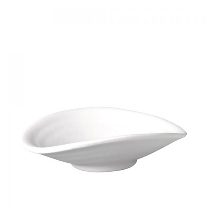 Schaal melamine Zen, wit, 17,5x15,5 cm.