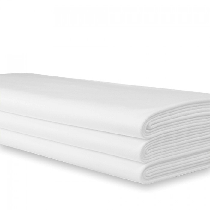 Tafellaken wit damast, 100x100 cm.