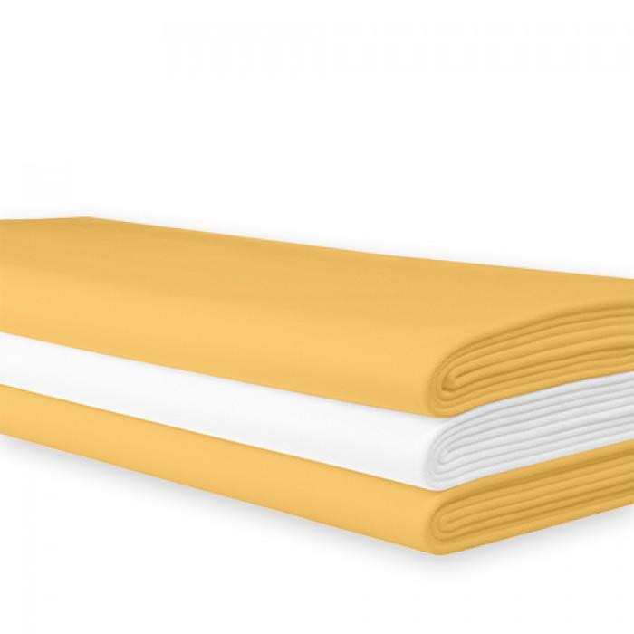 Tafellaken geel damast, 200x200 cm.