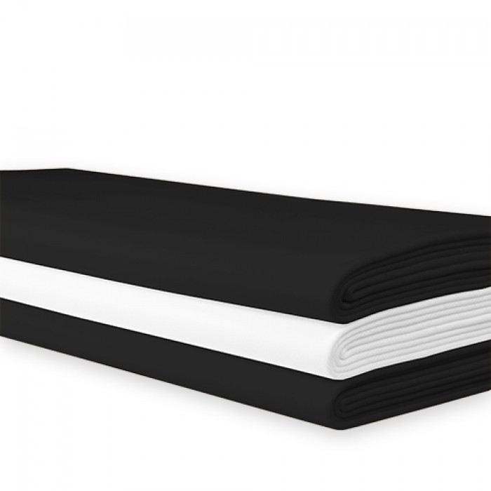 Tafellaken zwart, 250x140 cm.