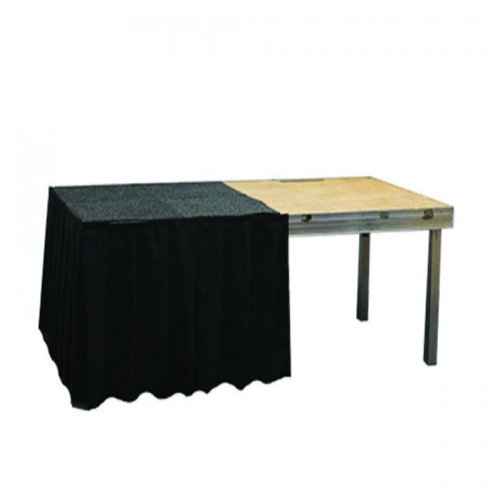 Podiumrok zwart, lengte 1 meter, hoogte 90 cm